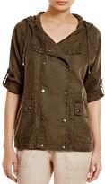 Three Dots Darla Hooded Linen Jacket