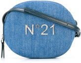 No21 Kids logo denim shoulder bag