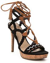 GUESS Adrita2 Braided Tribal-Stitched Tassel Detail Sandals