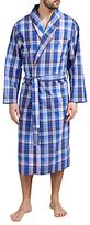 Polo Ralph Lauren Plaid Shawl Collar Robe, Blue