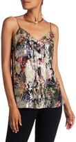 Haute Hippie Floral Silk Blend Pintuck Cami