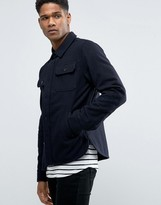 Celio Military Jacket in Wool Mix