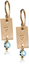 Nashelle Heart Stamped with Drop Earrings