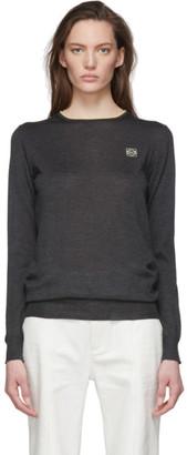 Loewe Grey Cashmere Anagram Sweater
