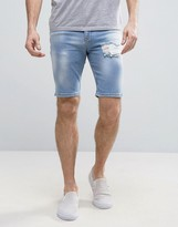 Mens Bleached Shorts - ShopStyle