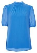 Dorothy Perkins Womens **Billie & Blossom Tall Blue Puff Sleeve Shell Top, Blue