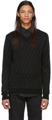 Fendi Black Wool Forever Sweater