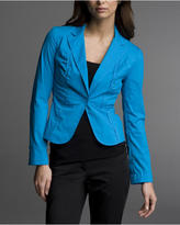 Ruched-Front Shirt Jacket