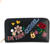 Dolce & Gabbana zip around printed wallet
