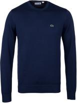 Lacoste Marine Blue Crew Neck Cotton Sweater