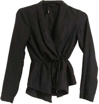 Edun Black Silk Coat for Women