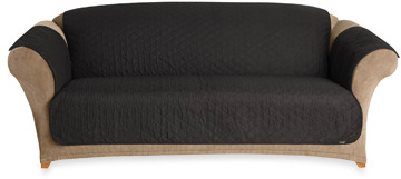 Bed Bath & Beyond Sure Fit® Duck Cotton Pet Sofa Throw Cover in Black