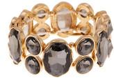 Natasha Accessories Oval & Round Crystal Stretch Bracelet