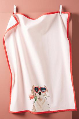 Amy Heitman Puppy Love Dish Towel By Amy Heitman in Assorted Size DISHTOWEL