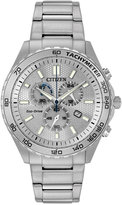 Citizen Eco-Drive Men's Chronograph Sport Stainless Steel Bracelet Watch 43mm AT2129-58A, A Macy's Exclusive Style