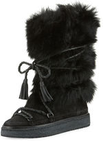 Frye Gail Shearling Fur Tall Boot, Black