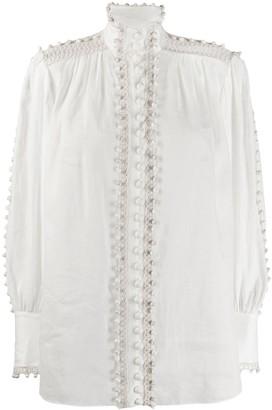 Zimmermann Super Eight bauble-trimmed blouse