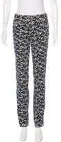 Tory Burch Printed Straight-Leg Jeans