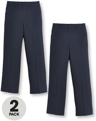 Very Boys 2 PackPull On School Trousers - Navy