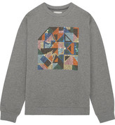 Christopher Kane Geometric Swarovski Crystal-embellished Jersey Sweatshirt - Gray