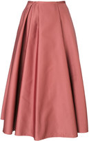 Rochas pleated detail midi skirt - women - Polyester/Cupro - 40