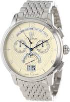 S. Coifman Men's SC0185 Chronograph Champagne Textured Dial Stainless Steel Watch