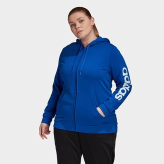 adidas Women's Essentials Full-Zip Hooded Track Top (Plus Size)