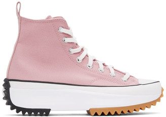 Converse Pink Run Star Hike High-Top Sneakers