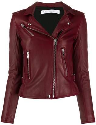 IRO off-centre zip biker jacket