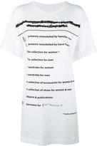 MM6 MAISON MARGIELA list print oversized T-shirt - women - Cotton - S