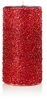 Bloomingdale's Red Beaded Pillar Candle - 100% Exclusive