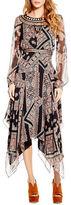 Jessica Simpson Ida Printed Roundneck Dress