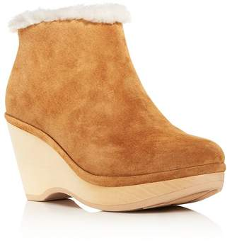 Kenneth Cole Gentle Souls by Women's Skylar Shearling Wedge Booties