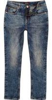River Island Boys marble wash Sid skinny stretch jeans