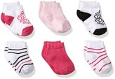 Yoga Sprout Baby No Show Socks, 6 Pack