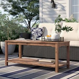 Laverock Wooden Coffee Table Sol 72 Outdoor Color: Dark Brown