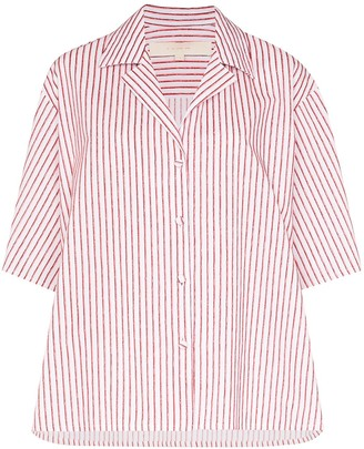 By Any Other Name Striped Strap Sleeve Shirt