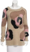 Kate Spade Mohair-Blend Patterned Sweater