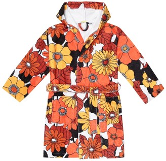 Dodo Bar Or Kids Floral bathrobe
