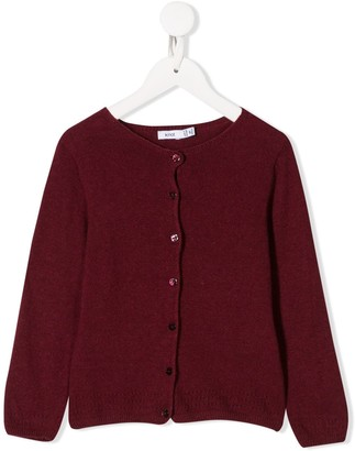 Knot Long-Sleeve Fitted Cardigan