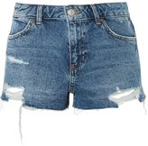 Topshop MOTO CORY Low Rise Denim Shorts
