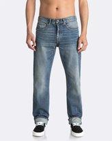 Quiksilver Mens Sequel Burnt Blue Regular Fit Denim Jean
