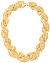 Monet Pre Owned 1980s Statement Leaf Necklace