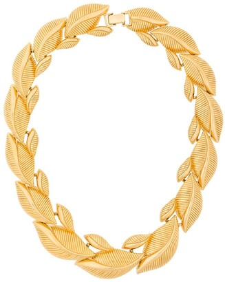 Monet Pre-Owned 1980s Statement Leaf Necklace