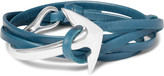 Miansai - Anchor Leather Silver-plated Wrap Bracelet