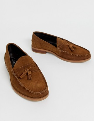 Office Liho tassel loafers in tan suede