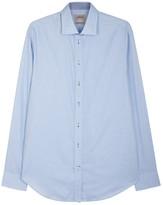 Armani Collezioni Light Blue Cotton Shirt