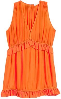 Ramy Brook Moira Ruffle Trim Dress