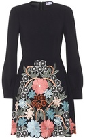 RED Valentino Embroidered crêpe dress