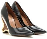 Marni Embellished leather pumps